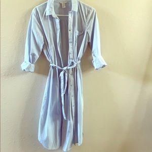 Beautiful shirt-dress  H&M size 10 like new